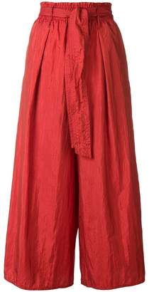 Forte Forte belted wide leg trousers