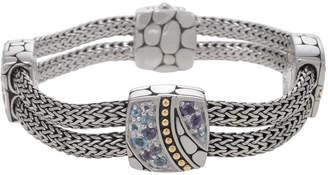 John Hardy Kali Lavafire Mixed-Stone Silver Bracelet