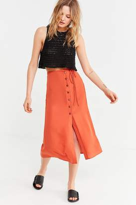 Urban Outfitters Frankie Button-Down Midi Skirt