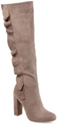 Journee Collection Womens Vivian-Xwc Dress Boots Block Heel Zip