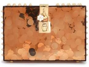 Dolce & Gabbana Dolce Spiked Glittered Acrylic Box Clutch