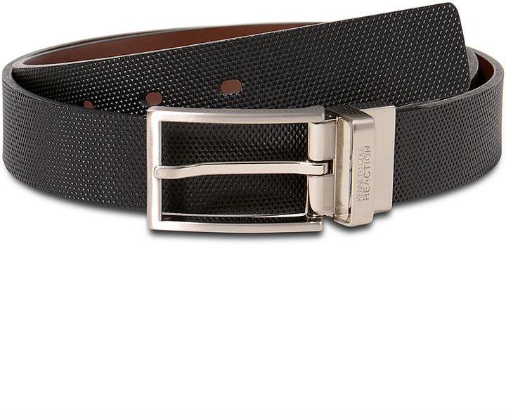 Kenneth Cole Reaction Belt, 30mm Cut Edge Bridle Reversible with Texture Strap Belt
