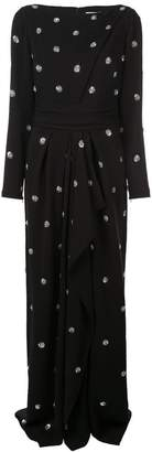 Oscar de la Renta polka dot embroidered dress