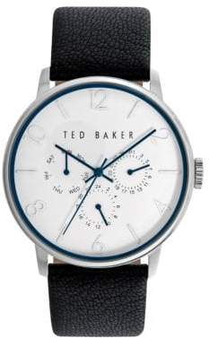 Ted Baker Mens Multifunction Leather Strap Watch 10023491