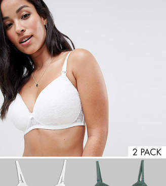 New Look Maternity 2-Pack Lace Bras