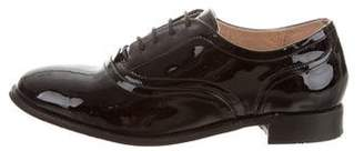 Barneys New York Barney's New York Patent Leather Round-Toe Oxfords