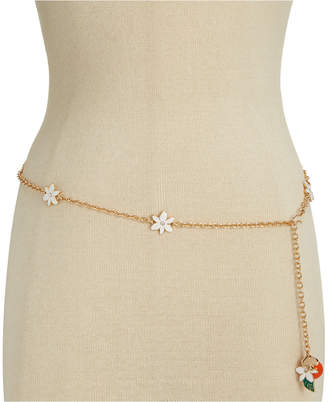 Kate Spade Gold-Tone Floral Chain Belt