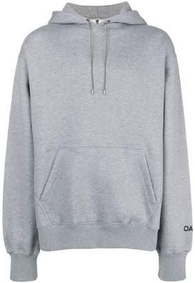 Oamc slogan hooded sweatshirt