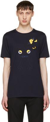 Fendi Navy Butterfleyes & Frogs T-Shirt $550 thestylecure.com