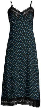Michael Kors Silk Midi Rosebud Slip Dress