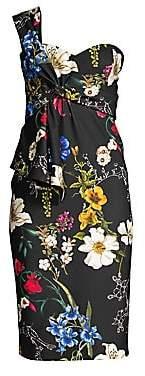 Parker Black Women's Kysha Cold Shoulder Floral Dress - Size 0