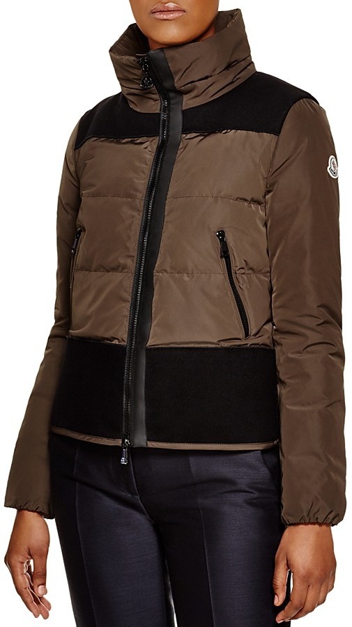 Moncler Moncler Athanasia Contrast-Inset Short Down Jacket