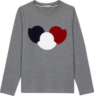 Moncler Logo long-sleeved top 4-14 years $94 thestylecure.com