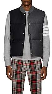 Thom Browne Men's Two-Tone Down-Quilted Wool Vest - Navy