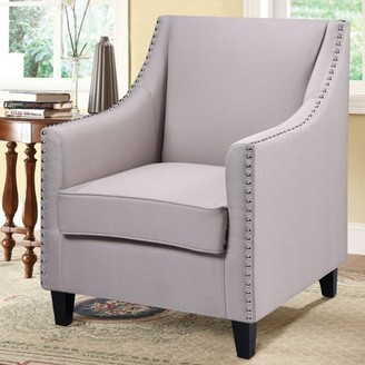 Best Master Furniture's Cottage Tufted Fabric Accent Chair, Available in Two Colors