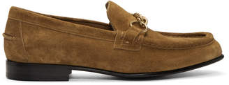 Burberry Brown Suede Solway Loafers