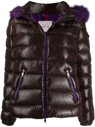 Moncler fur lined puffer jacket