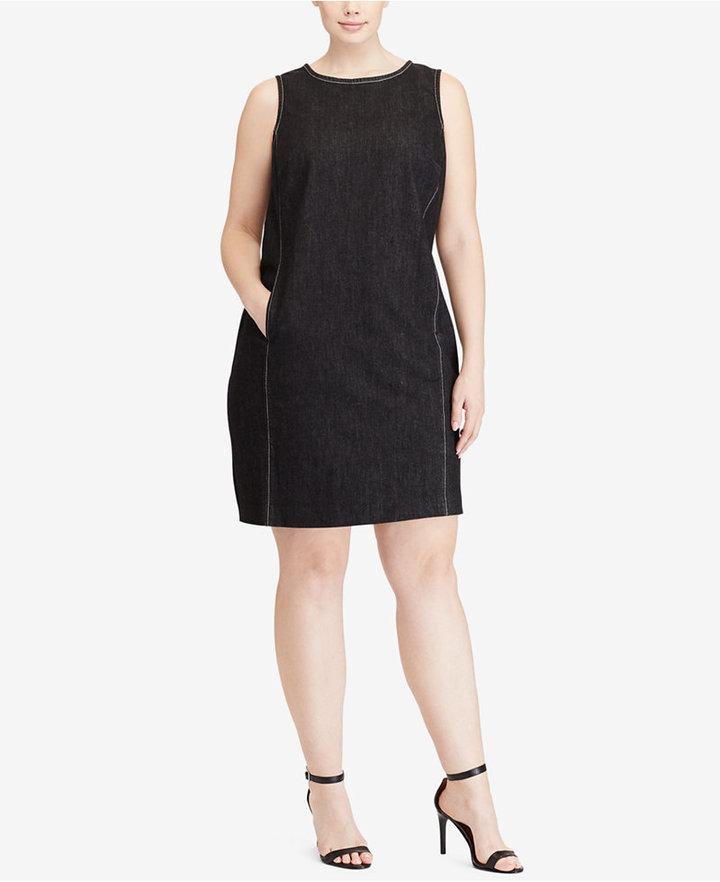Lauren Ralph LaurenLauren Ralph Lauren Plus Size Sleeveless Denim Shift Dress