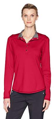 Cutter & Buck Women's 50+ UPF Stretch Evergreen Reversible Snap Placket Pullover