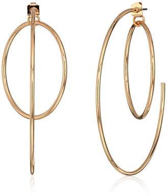 GUESS Women's Hoop Earrings With Inside Ring