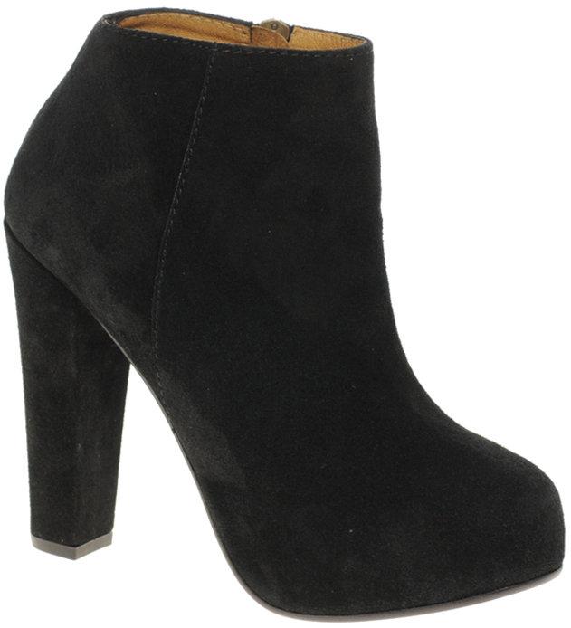 Minimarket Lova Suede Heeled Ankle Boot