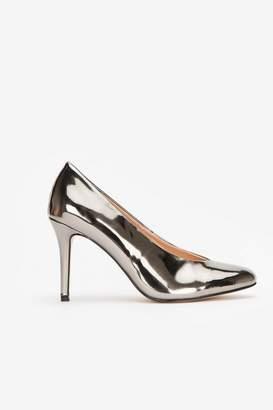 Wallis Silver High Heel Court Shoe