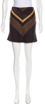 Chloé Wool & Mohair-Blend Mini Skirt