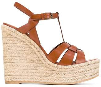 Saint Laurent Tribute espadrille wedge sandals