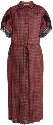 Preen Line Willow checked crepe dress