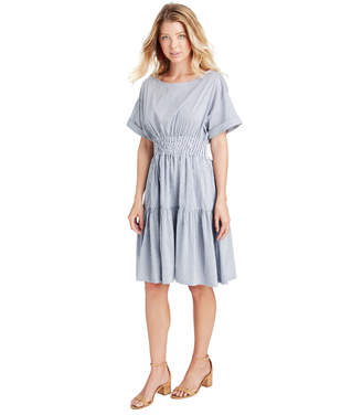 Vineyard Vines Smocked Waist Shirt Dress