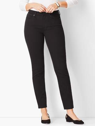 Talbots Slim Ankle Jeans - Never Fade Black/Curvy Fit