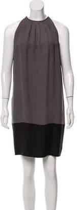 Celine Pleated Silk Dress