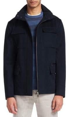Loro Piana Full-Zip Hooded Jacket