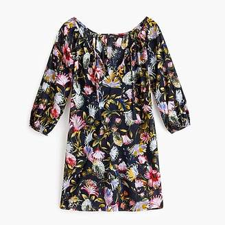 J.Crew Scoopneck beach tunic in floral