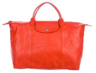 Longchamp Large Leather Tote