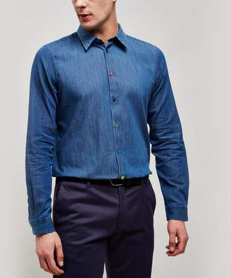 48bb3e6d18c4 Paul Smith Contrast Button Chambray Shirt