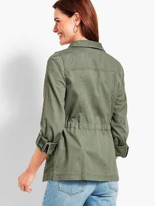 Talbots Casual Cotton Embroidered Safari Jacket