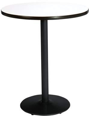 """KFI seating KFI 36"""" Round Pedestal Breakroom Table with Multiple Colors Top, Round Black Base. Bistro Height"""