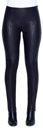 Akris Fria Napa Leather Skinny Pants