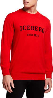 Iceberg Men's Cashmere Logo Crewneck Sweater