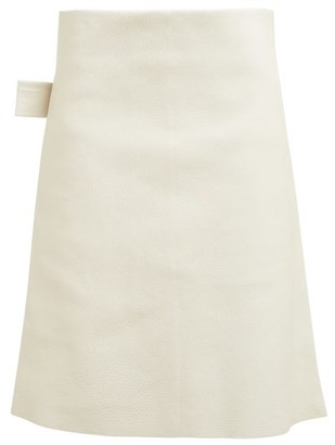 Bottega Veneta Leather Pencil Skirt - Womens - Ivory