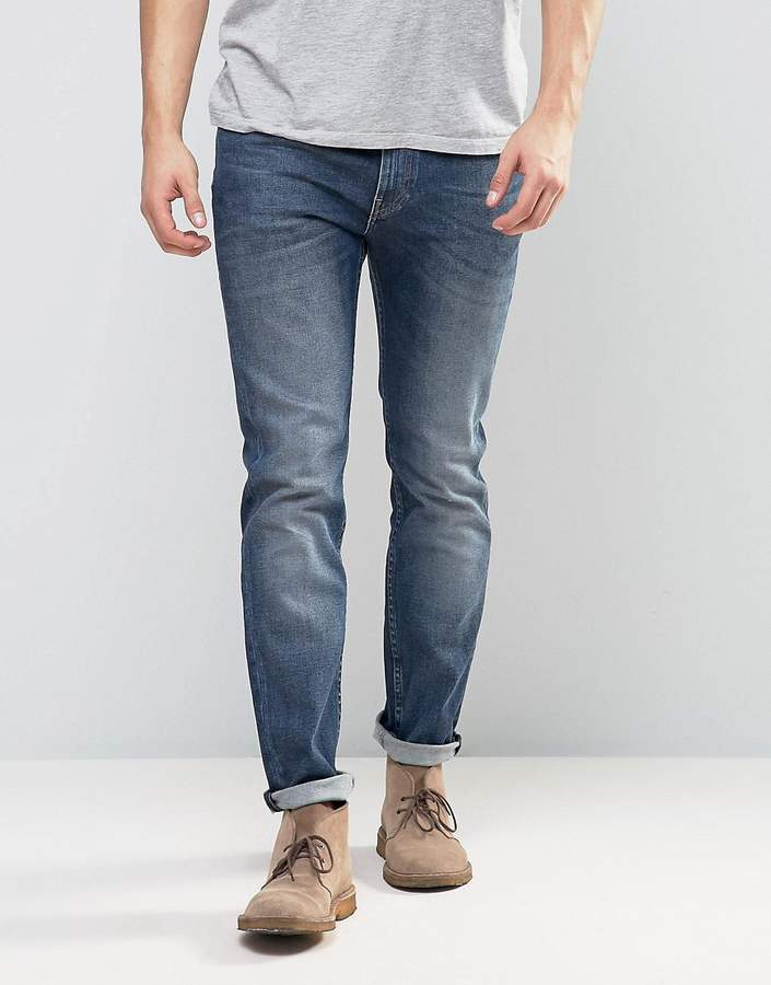 LeeLee Jeans Rider Stretch Skinny Jeans in Blue Gloss