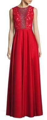 Basix II Black Label Sequin Embellished Gown