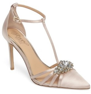 Women's Jewel Badgley Mischka Cabo Embellished Pointy Toe Pump $99.95 thestylecure.com