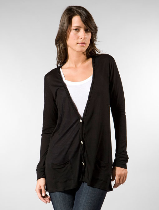 Rose Oversized Cardigan in Black