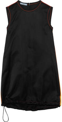 Prada Paneled Silk-satin Mini Dress - Black