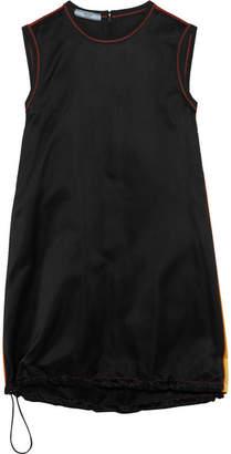 Prada Paneled Silk-satin Mini Dress - Black