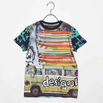 Desigual (デジグアル) - デシグアル Desigual BOY KNITTED SHORT SLEEVE T-SHIRT