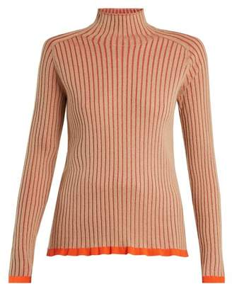 Burberry Contrast Trim Cashmere Blend Sweater - Womens - Beige