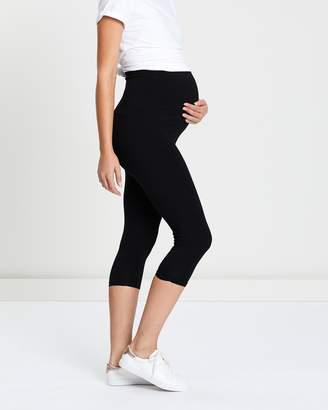 Angel Maternity Maternity 2-Pack Basic Capri Length Leggings